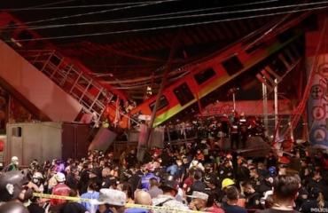 Collapsed rail bridge kills 23 people in Mexico