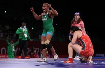 Nigeria's Blessing Oborududu wins Olympic silver in wrestling