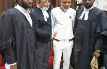 Nnamdi Kanu plead not guilty to terrorism charges